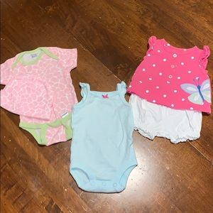 Baby onesies and shirt set (NEW)